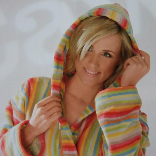 479c2d3b52 Cawö Damen Bademantel 7081 Lifestyle Kapuze Multicolor 125cm | Damen ...