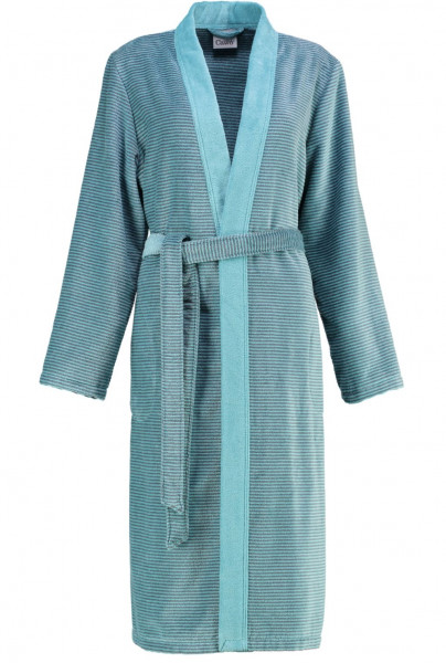 Cawö Damen Bademantel 6431 Kimono türkis 115cm