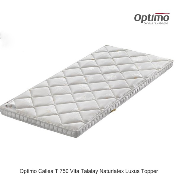 Optimo Callea T 750 Vita Talalay Naturlatex Topper