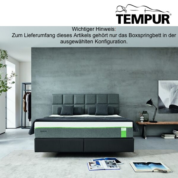 tempur hybrid luxe 30 flat boxspringbett tempur boxspring boxspringbetten m bel living. Black Bedroom Furniture Sets. Home Design Ideas
