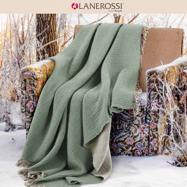 Lanerossi Plaid Dioniso 6001 acqua 130x180 cm Sonderpreis