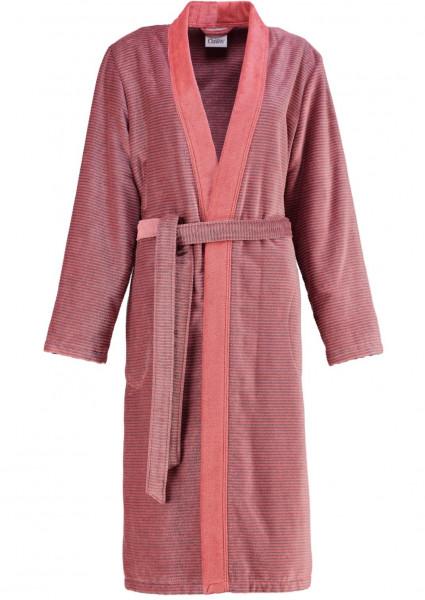 Cawö Damen Bademantel 6431 Kimono rot 115cm