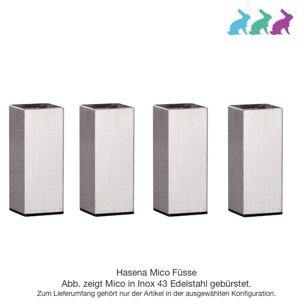Hasena Mico 4er Set (Bettfüße aus Metall)