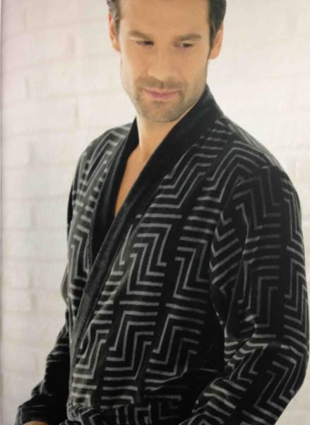 Cawö Herren Bademantel 3809 Kimono anthrazit 125cm
