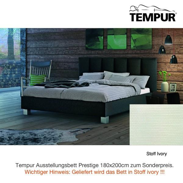 Tempur Prestige Bett Horizon Stoffbezug ivory 180x200cm Ausstellung Sonderpreis
