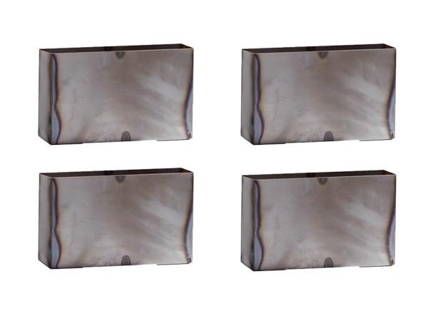 Hasena Quada 4er Set Bettfüße aus Metall